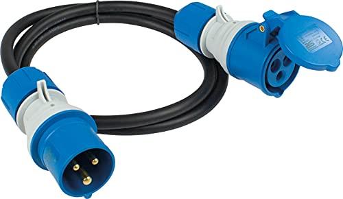 as - Schwabe 61402 Cable Adaptador CEE, Negro/Azul
