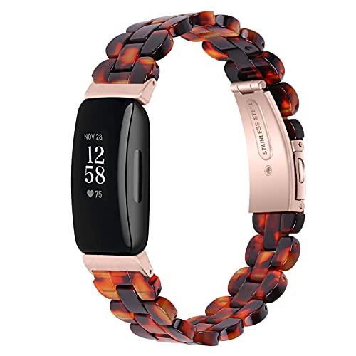 KangPlus Bandas compatibles con Fitbit Inspire 2 para mujeres y hombres, correa de repuesto de resina con hebilla de acero inoxidable, correa ajustable de 5.5 a 7.9 pulgadas