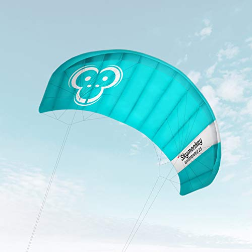 Skymonkey Windtrainer 2.3 Trainer-Kite/Lenkmatte 4-Leiner (inkl. Trainerbar) Ready 2 Fly- 230 cm...