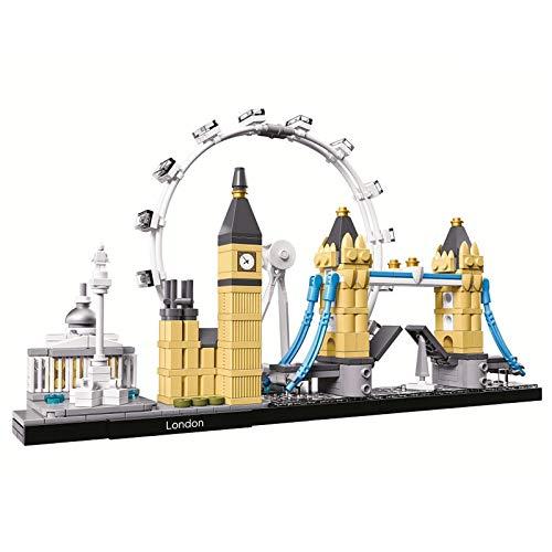 yqs Kinder Bausteine Architektur Skyline Collection London City Bausteine Kit Bricks Sets Classic Model Kinder Spielzeug für Kinder Geschenk