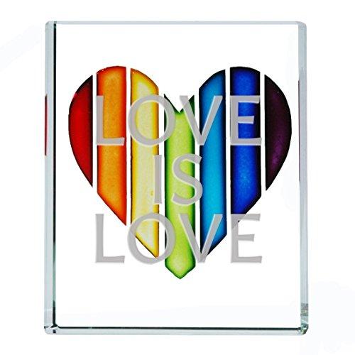 Spaceform Glas-Token Rainbow Herz Love ist Love Romantische Geschenk