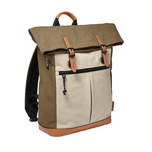 Price comparison product image Fossil Men's Buckner Khaki Rolltop Backpack Bag