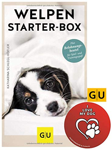 GU Welpen-Starter-Box: Plus Belohnungsbeutel für sofortigen Spiel- und Trainingsspaß Tier-Box + gratis I Love My Dog Sticker by Collectix