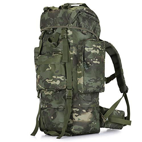 Zaino dell'esercito per gli uomini, Zaino tattico 100L ad alta capacità criptato tessuto Oxford usato per alpinismo militare viaggio moto Stile 10 Taglia unica