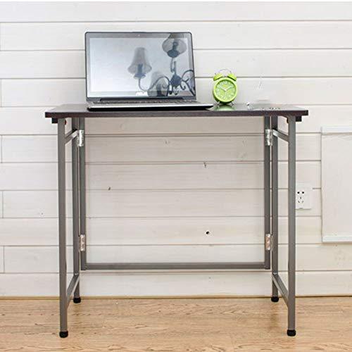 Klapptisch verstellbar Klappbarer Computertisch Studentenwohnheimtisch mit automatischem Schloss Tisch 2 Farbe Optional 70 * 80 * 40 cm Drehbar (Farbe: Dunkelbraun)