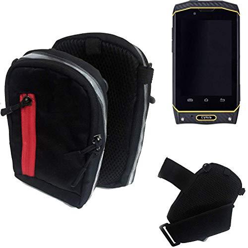 K-S-Trade Outdoor Gürteltasche Holster Umhängetasche Für Cyrus CS 19 Schwarz Handytasche Hülle Travelbag Schutzhülle Handyhülle