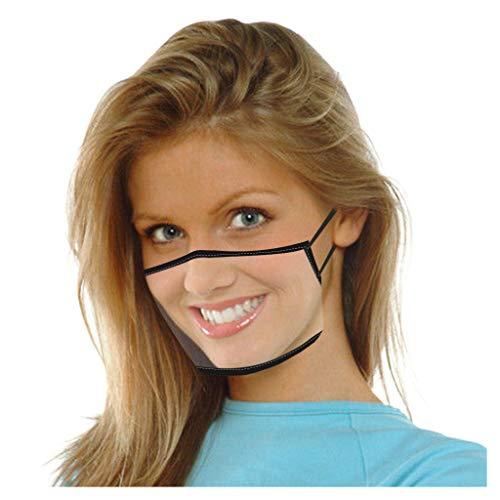 YpingLonk 1 Unidad, Protector de Cara Visual Transparente para Adultos, cómodo, de Moda, pañuelo Bandana