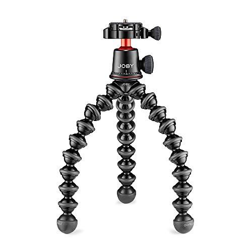 JOBY GorillaPod - Trípode Profesional Flexible de Aluminio con Rótula para Cámaras CSC/Sin Espejo Premium, DSLR Kit 3K Pro, Peso hasta 3 kg, JB01566-BWW