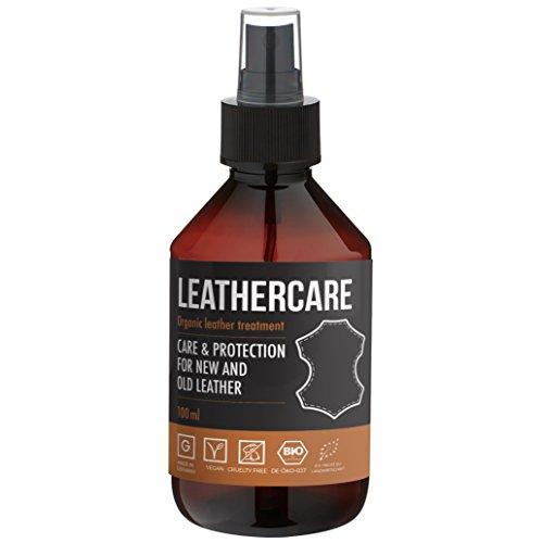 LeatherCare Bio leerreiniger I 100 ml premium leerverzorging auto & motorfiets I ideale leerverzorging voor leerbank I kussenreiniger voor thuis I schoon & stralend I impregneerend