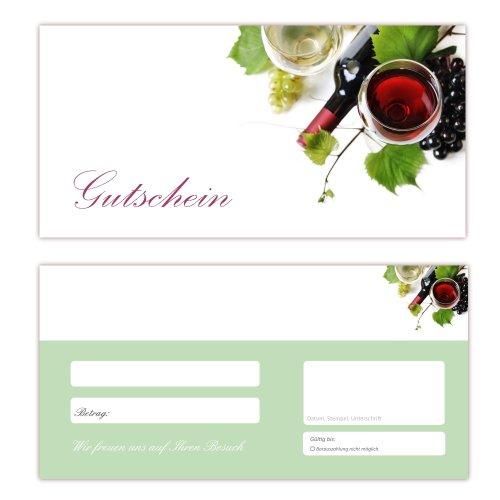 50 Geschenkgutscheine (Wein-645) - Ein schönes Produkt für Ihre Kunden. Gutscheine Gutscheinkarten für Bereiche wie Freizeit, Wellness, Feier, Geschenk, Getränke und weitere