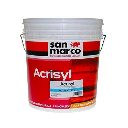 San Marco ACRISYL INTONACHINO Rivestimento murale effetto compatto antimuffa antialga, colore: Bianco, size: 25 kg