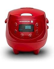 Digitale Reishunger Mini Rice Cooker (0,6l/350W/220V) Multi Cooker met 8 programma's, 7-fase technologie, premium binnenpot, timer en opwarmfunctie - rijst voor maximaal 3 personen