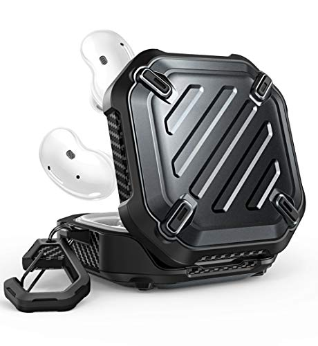 SUPCASE Unicorn Beetle Pro Series Case Designed for Galaxy Buds Live 2020 Release, Full-Body Rugged Protective Case with Carabiner (Black)