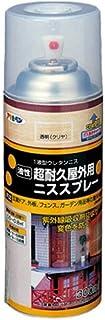 アサヒペン 屋外用ニススプレー 300ML 透明(クリヤ) 【まとめ買い3缶セット】