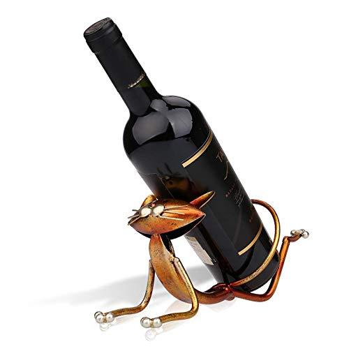 Portabottiglie da tavolo, Portabottiglie Creativo, Forma di cartone animato, Espositore da tavolo, Decorazione artistica, Metallo, Usato per conservare il Vino