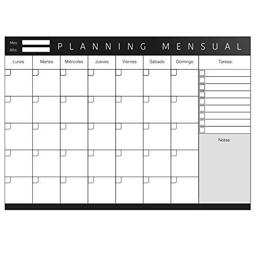 Planner mensile formato A4 con design minimalista e produttivo, agenda settimanale in formato A4, pianificazione da scrivania