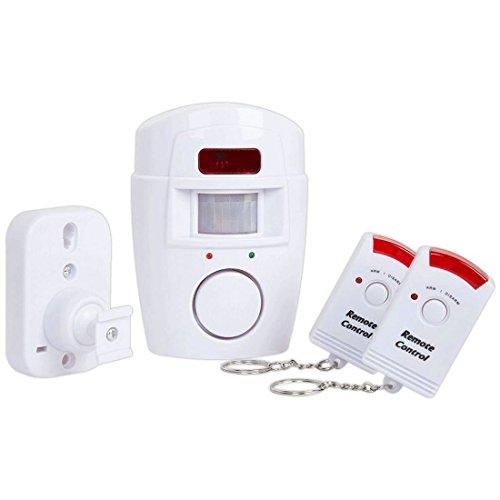 Sensor de Infrarrojos PIR Alerta MP antirrobo Sistema de Detector de Movimiento Alarma Monitor Alarma sin Hilos 2 Controlador Remoto