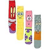 SpongeBob SquarePants Patrick Squidward Mr. Krabs Crew Socks 4-Pack Box