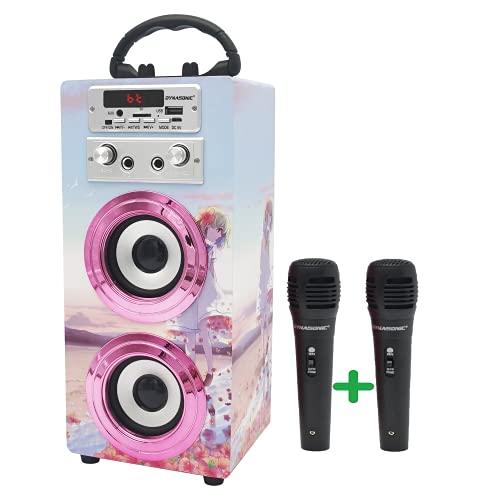 DYNASONIC (3º Generazione Modello 2021 Karaoke con Microfono, Ideale per Regali Originali per Bambini e Ragazza, Giocattoli Bambini Bambina Modello 025-17