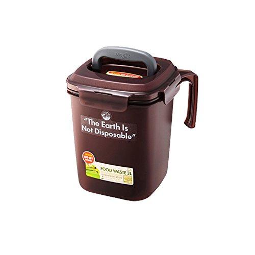 [ロックアンドロック] Lock&Lock Food Waste Bin 密閉型 家庭用生ごみ処理機 3L [並行輸入品] (Brown)
