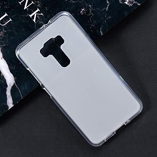 Capa para Asus Zenfone 3 ZE552KL, capa traseira de TPU macia resistente a arranhões à prova de choque de borracha de gel de silicone anti-impressões digitais Capa protetora de corpo inteiro para Asus Zenfone 3 ZE552KL (branca)