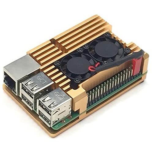 Chahu para Raspberry Pi3 Generation B Tipo 2b / 3b Ventilador de refrigeración con Carcasa de aleación de Aluminio