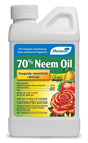Monterey LG6128 Concentrate 8OZ 70% Neem Oil, 16 oz, Brown