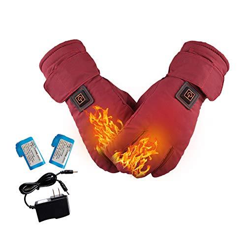 Elektriska uppvärmda handskar för män/kvinnor, termiska handskar för elektriska uppvärmningar, värmehandskar med 3 värmeinställningar och 2 600 mA uppladdningsbara litiumbatterier för cykling, motorcykel, skidåkning, bergsklättring