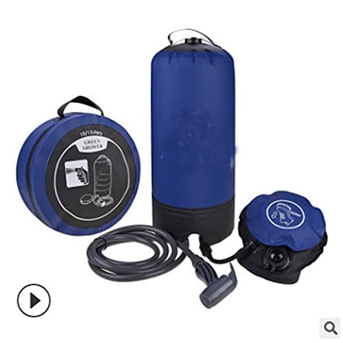 pengkunmaoqian Bolsa De Ducha PortáTil para Acampar, Bolsa De Ducha para Acampar Al Aire Libre De 11 litros,para Acampar En La Playa, Senderismo, Montar En Mochila,Blue
