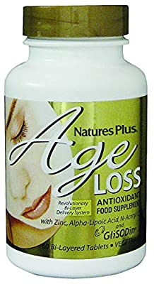 Nature's Plus AgeLoss Antioxidant Bi-Layered Tablet - 60 Vegetarian Capsules - Gluten Free