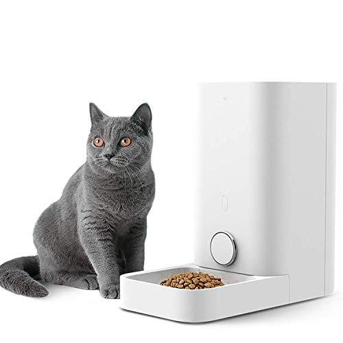 PETKIT Pet Smart Feeder Pas de Carte, Double Frais Distributeur Automatique de Nourriture pour Chiens et Chats (Blanc 2,8)