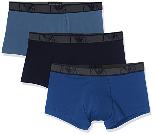 Emporio Armani Underwear 2, 3er Pack, Blau (MAR./IND./BLU REALE 61435), Medium (Herstellergröße:M)