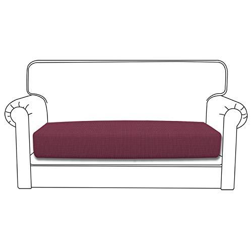 Easy-Going Stretch Cushion Cover Sofa Cushion Furniture Protector Sofa Seat Sofa slipcover Sofa Cover Soft Flexibility with Elastic Bottom(Loveseat Cushion,ASH Rose)