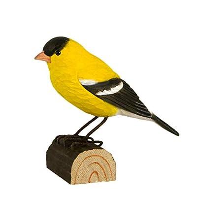 WILDLIFEGARDEN DecoBird, Hand-Carved Wood Replica for Indoor or Outdoor Use, Artisanal Life-Like Figurine Designed in Sweden