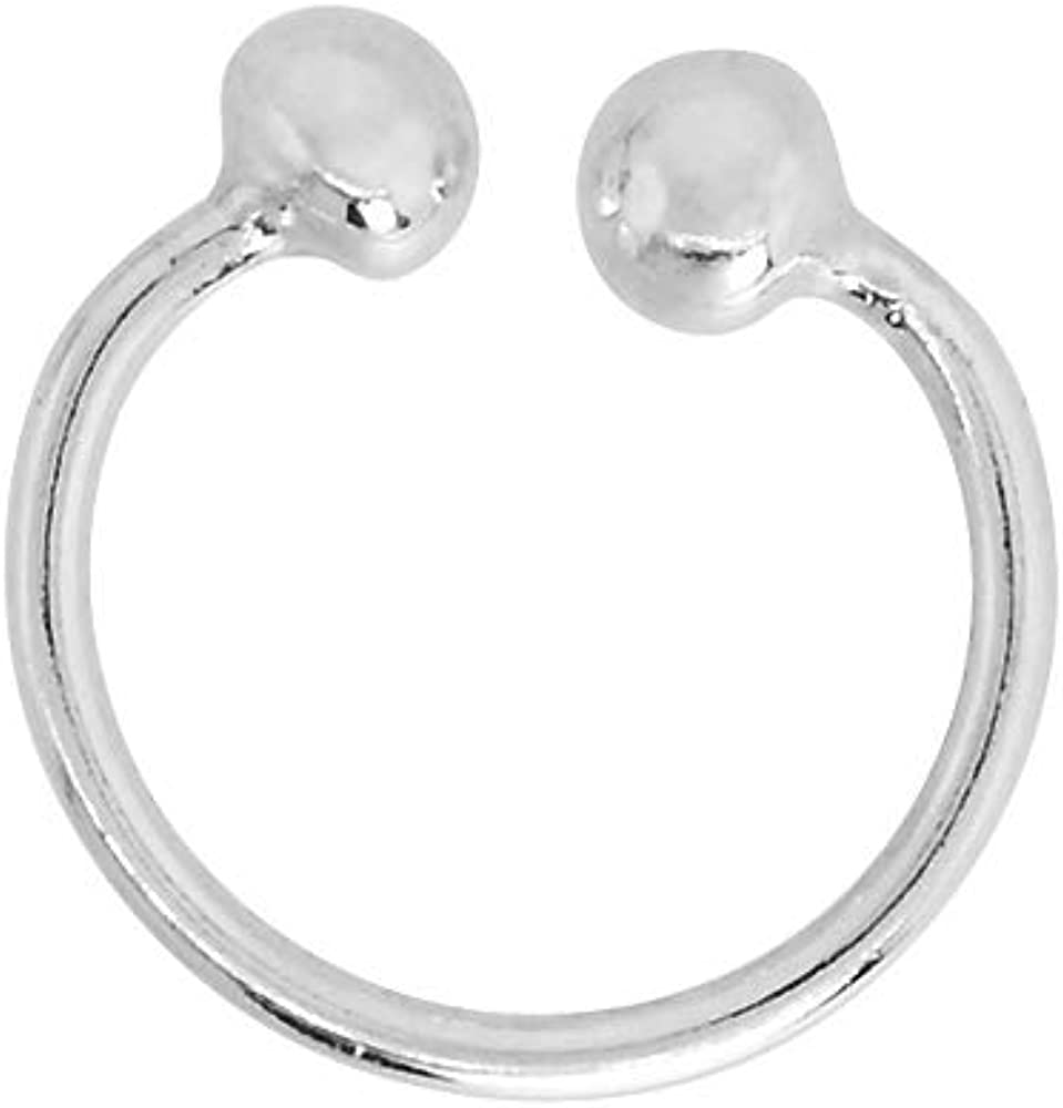 Sterling Silver Horseshoe Max 40% OFF 10-14mm Nose Septum Ring Piercing Cart Ranking TOP18