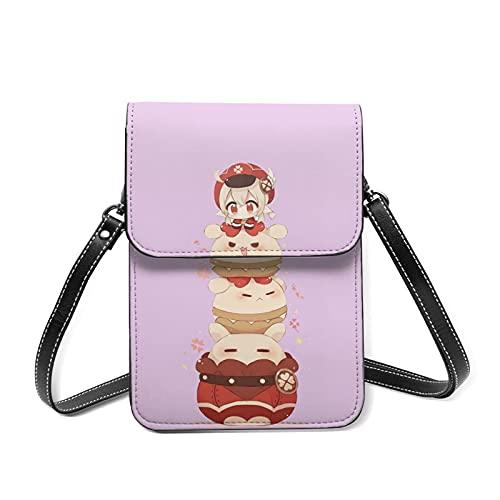 Xuanyang Bolso de Teléfono Móvil para Mujer Bolso bandolera pequeño para teléfono celular, regalo exquisito para mujeres Chibi Klee Kawaii Jumpy Dumpty Cluster