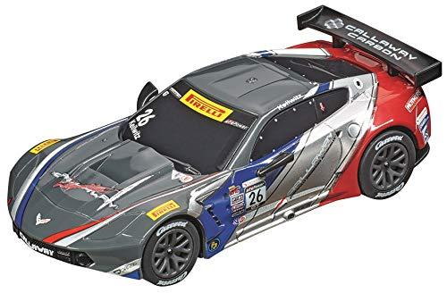 Carrera 64161 Chevrolet Corvette C7.R GT3 Callaway Competition USA No. 26 1:43 Scale Analog Slot Car Racing Vehicle for Carrera GO!!! Slot Car Race Tracks
