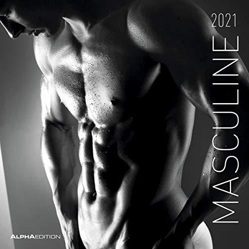 Masculine 2021 - Broschürenkalender 30x30 cm (30x60 geöffnet) - Maskulin - Bild-Kalender - Erotikkalender - Wandplaner - mit Platz für Notizen - Alpha Edition