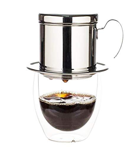BourneTech Gotero de café vietnamita, Cafetera vietnamita, Phin, Cafetera portátil sin papel de filtro, Cafetera vietnamita de segunda generación
