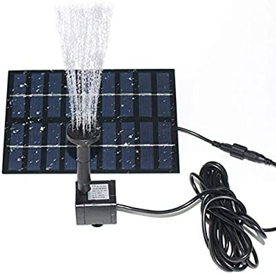 Gocheer 1.8W Solar Fountain Pump, Solar Powered Pump for Pond Solar Panel with 4 Types Spray Heads Outdoor Fountain for Bird Bath, Small Pond, Pool, Fish Tank & Patio & Garden by Gocheer