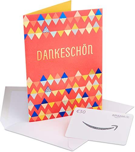 Amazon.de Geschenkkarte in Premium Grußkarte - 30 EUR (Danke)