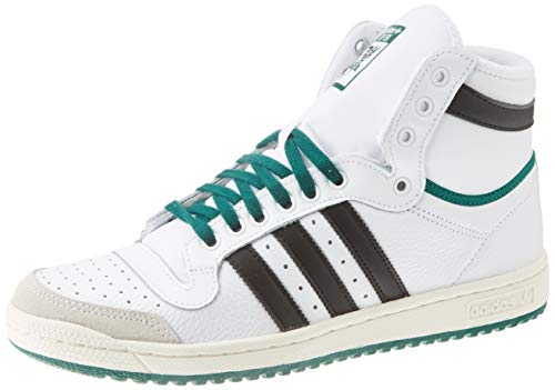 Adidas Top Ten Hi Sneakers voor heren, Blanc Noir Vert