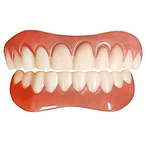 Protesi Dentale Faccette Dentali Inferiore e Superiore Denti Cosmetici Dentiera Denti Perfetti Inferiori e Superiori, Ripara Istantaneamente i Denti e Sorridi