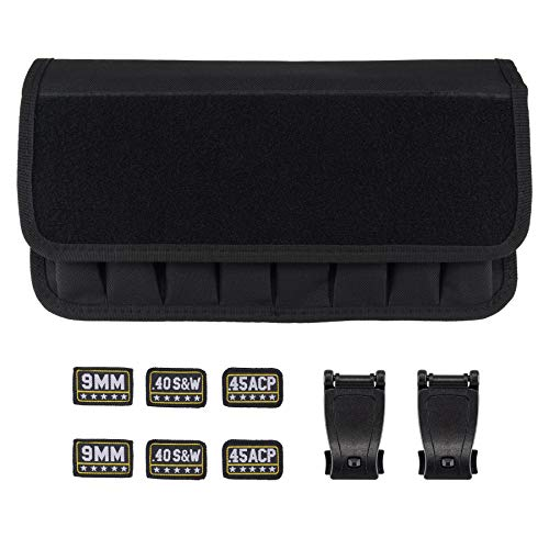 Raiseek Molle 8 Mag Pouch with Cover, Pistol Magazine Storage Pouch