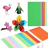 Xiang Ru Origami Paper 100 hojas de papel de 70 g/m², 10 colores, doble cara, 7 x 14 cm, papel de tarjeta plegable para arte de niños, manualidades