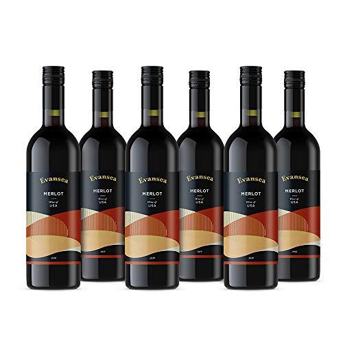 Evansea Rotwein Merlot trocken, Kalifornien (6x0,75L)