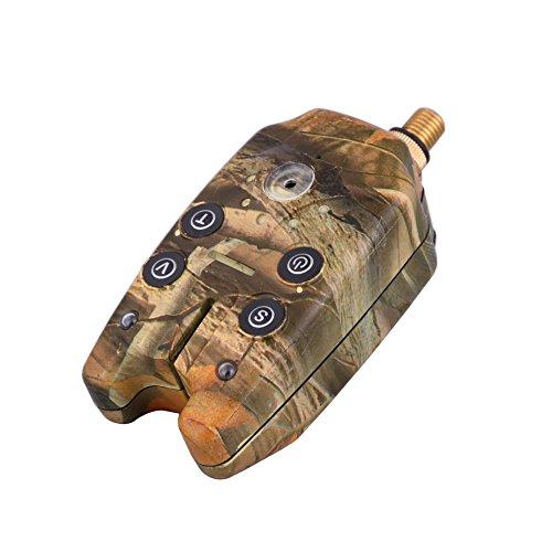 Tracffy Angeln Bissanzeiger mit 2 Leds Blau Licht Ton Lautstärke Einstellbare Sound Empfindlichkeit Bissanzeiger Fisch Wasserdicht Angeln Werkzeuge