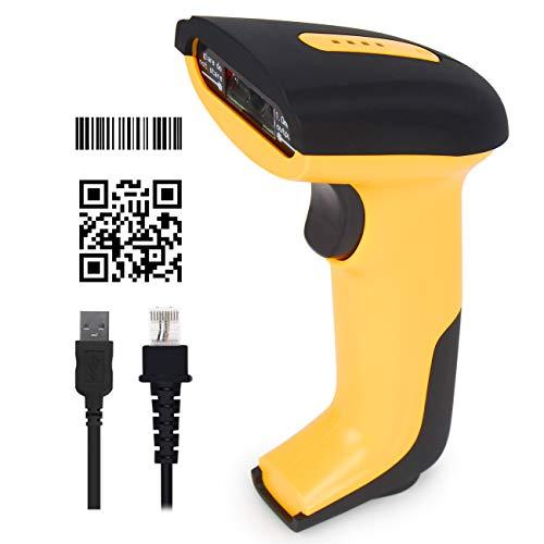 CHITENG 2D Barcode Scanner, QR Code Scanner-Leser, USB-Kabel Handscanner, Plug and Play, Kompatibel mit Windows Linux iOS Android usw.
