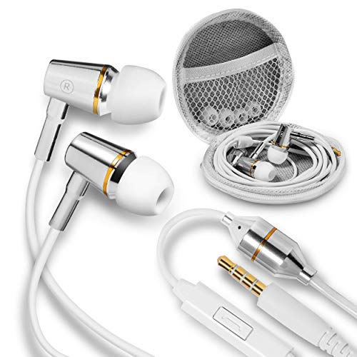 EMFProtector Anti-Radiation Air Tube Headphones for 99% EMF Reduction, Safe, Radiation-Free Earbuds with Microphone, Cell Phone Protection, Carry Case Included for iPhone & Other Devices