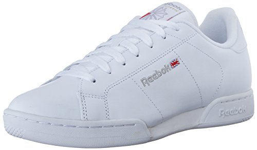 Reebok NPC II, Zapatillas de Tenis para Hombre, Blanco (White/Lt Grey), 43 EU